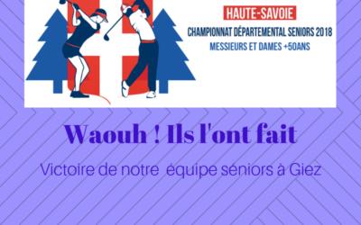 Victoire de Machilly au championnat départemental Séniors 2018 – Étape de Giez